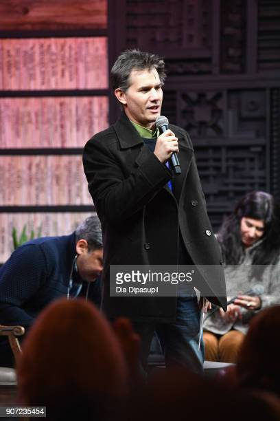 Senior Programmer of Sundance Film Festival John Nein speaks to the panel at the Panel Adaptation during the 2018 Sundance Film Festival at Filmmaker...