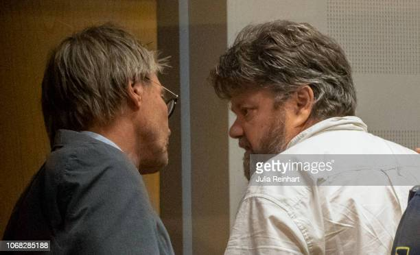 Senior Public Prosecutor Jonas Arvidsson speaks to Carl Stephen Beech in Gothenburg District Court after he was remanded for extradition back to the...