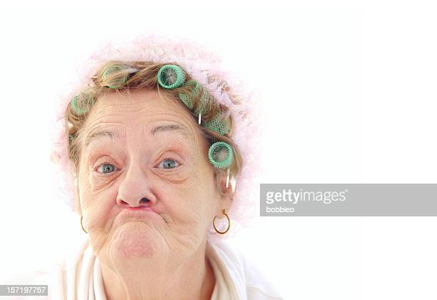 senior pucker face - old stock photos and pictures