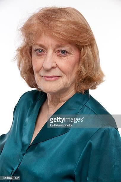senior redhead woman
