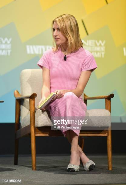 Senior Reporter at Vanity Fair Emily Jane Fox speaks onstage at Day 2 of the Vanity Fair New Establishment Summit 2018 at The Wallis Annenberg Center...