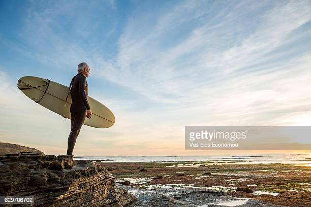 Senior Retired Surfer Man