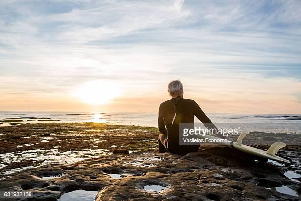 Senior Retired Surfer Man