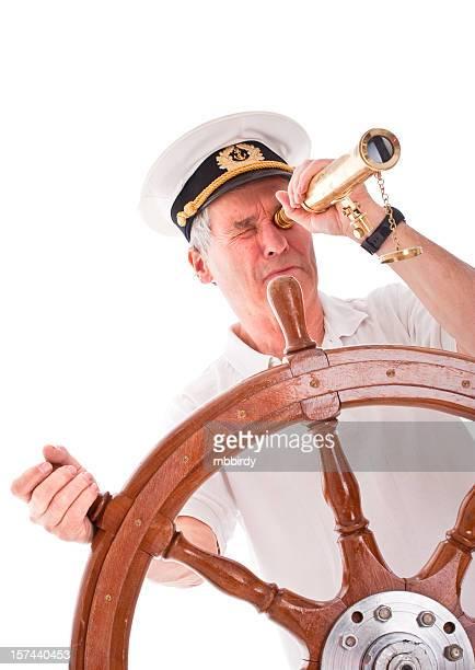 Senior marinaio con Telescopio
