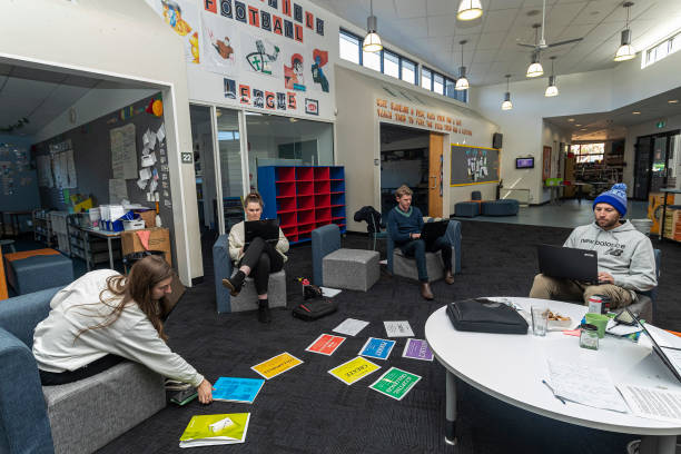 AUS: Students Return To School As Victoria Begins Staged Return To Classroom Learning