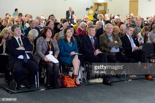 Senior Scottish Liberal Democrats listen to speeches during the Scottish Liberal Democrats' autumn conference L to R Alistair Carmichael MP Christine...