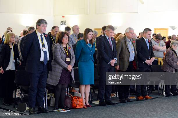 Senior Scottish Liberal Democrats prepare to observe the Armistice Day twominute silence during the Scottish Liberal Democrats' autumn conference L...