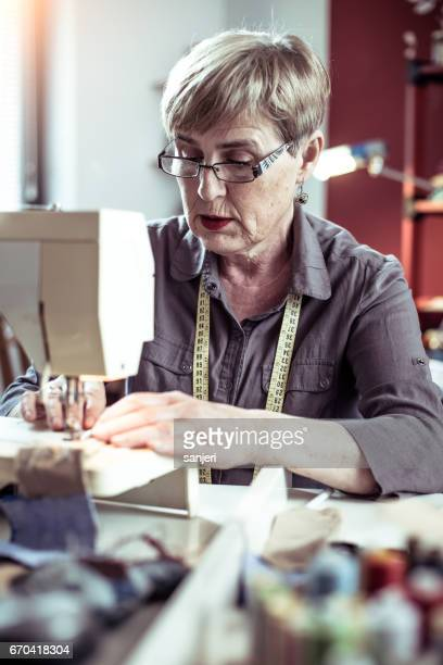 Senior Seamstress Sewing