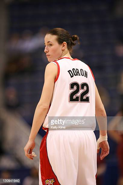 Senior Shay Doron led all scorers with 21points 3 assists and 5 rebounds during the NCAA Women's Basketball Tournament first round matchup between...