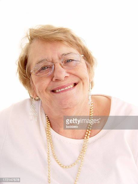 senior - smile - short hair for fat women stock pictures, royalty-free photos & images