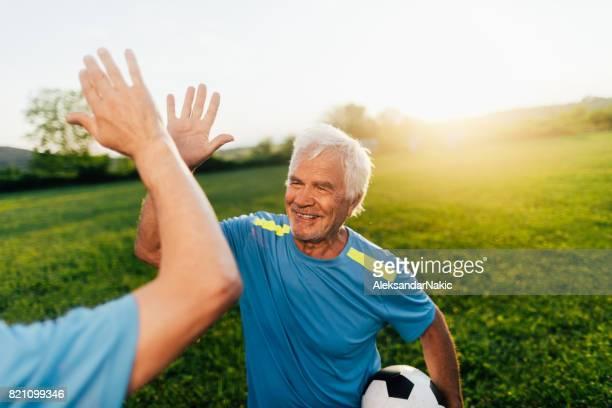 Senior voetballers vieren