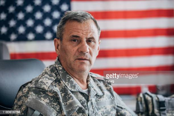 us senior soldier portrait - armed forces day stock pictures, royalty-free photos & images