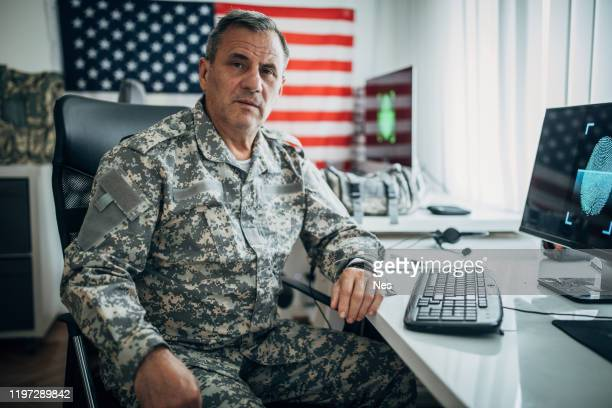 senior soldier portrait - armed forces day stock pictures, royalty-free photos & images