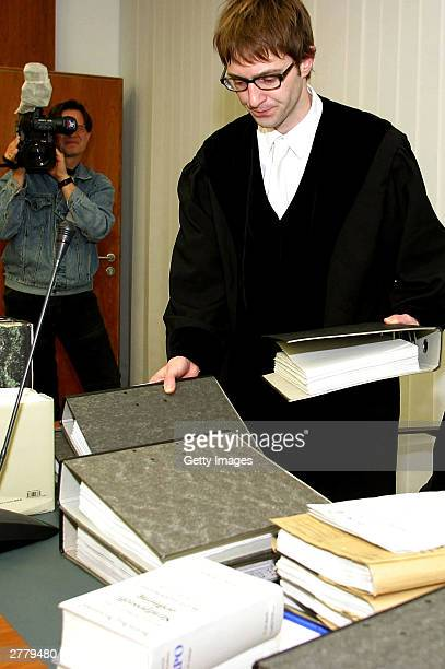 Senior state prosecutor Marcus Kohler is seen at the trial of Computer technician Armin Meiwes aged 42 at the prelude to Germany's first cannabalism...