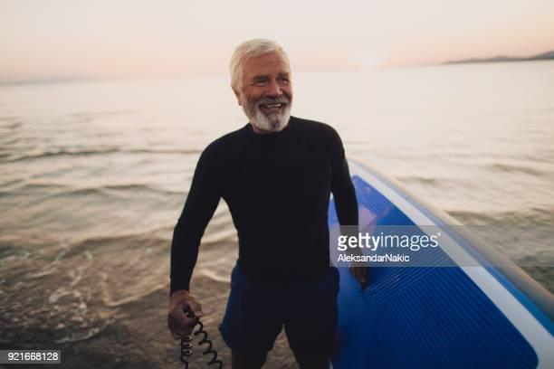 Senior surfer