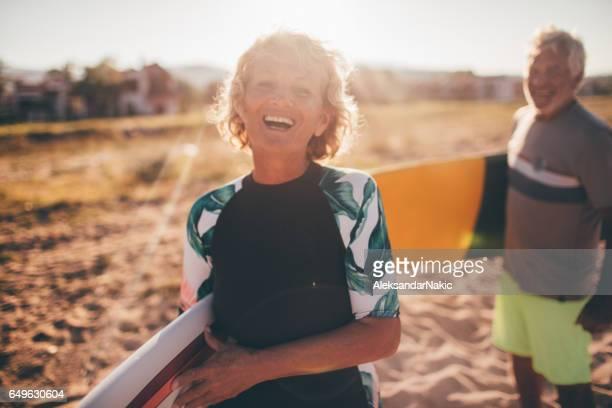 Senior surfers