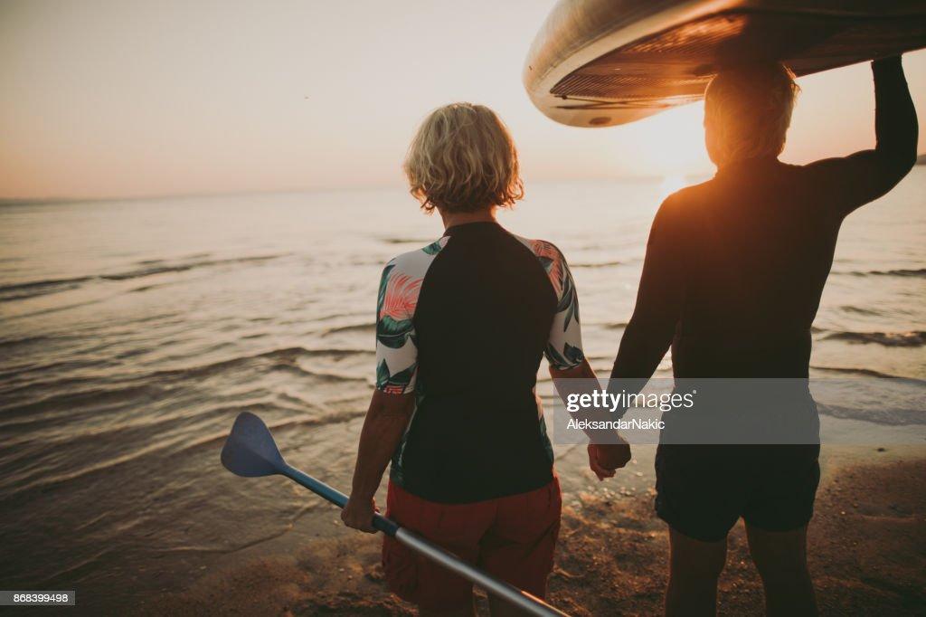 Senior surfers : Stock Photo