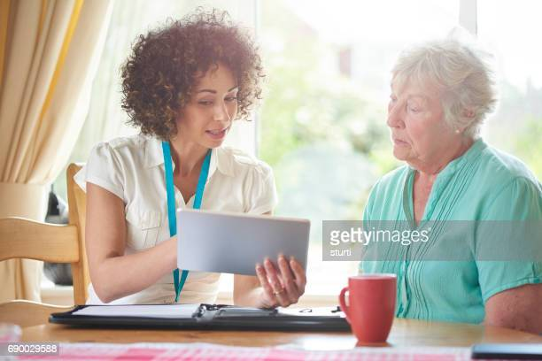 senior tenant guidance - social services stock photos and pictures