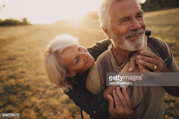 senior tenderness - happy stock photos and pictures
