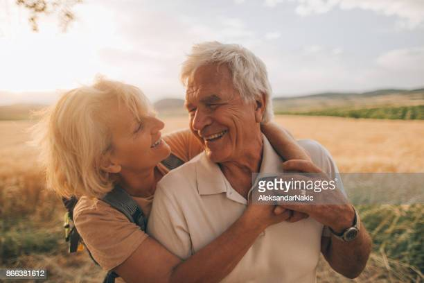 senior tenderness - outdoor pursuit stock pictures, royalty-free photos & images