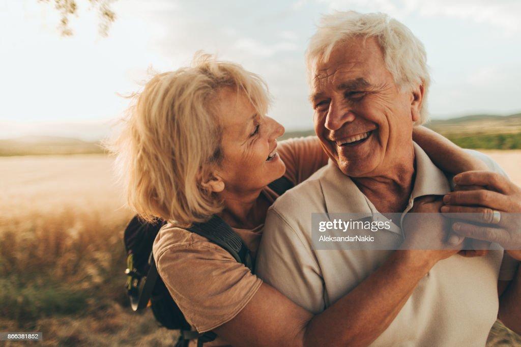 Senior tenderness : Stock Photo