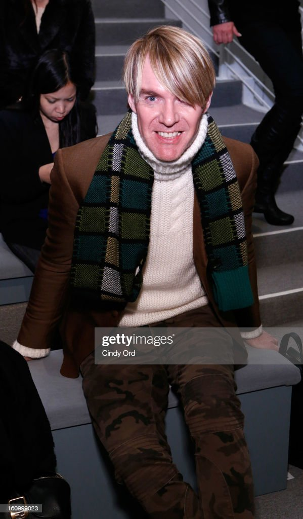Senior Vice President and Fashion Director of Neiman Marcus Ken Downing attends the Carmen Marc Valvo Fall 2013 fashion show during Mercedes-Benz Fashion Week at The Stage at Lincoln Center on February 8, 2013 in New York City.