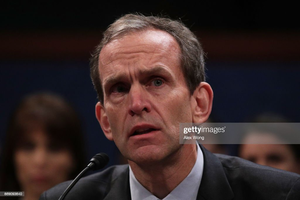 Senior Vice President and General Counsel for Google Kent Walker testifies during a hearing before the House (Select) Intelligence Committee November 1, 2017 on Capitol Hill in Washington, DC. The committee held a hearing on 'Russia Investigative Task Force: Social Media Companies.'