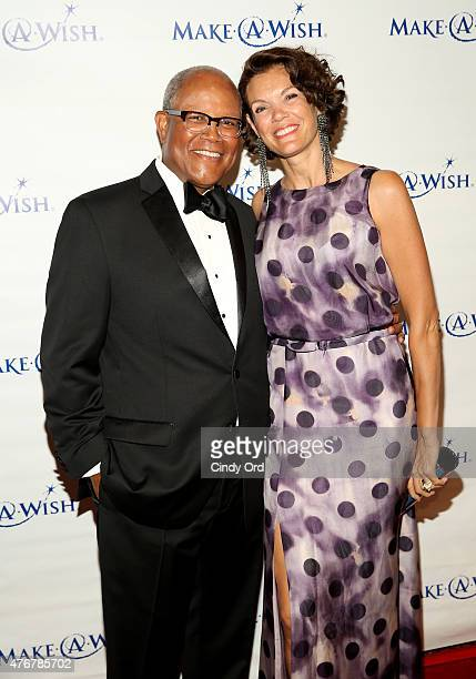 Senior Vice President and Northest Market Manager of Fifth Third Bank Ty J Williams and guest attend An Evening Of Wishes Annual Gala Benefiting...