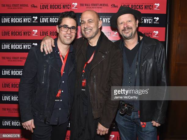 Senior Vice President at Douglas Elliman Real Estate Greg Williamson designer John Varvatos and photographer Danny Clinch attend a VIP reception for...