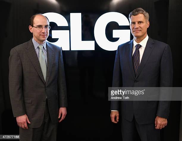 Senior Vice President at GLG Andrew Gordon and Former Chairman of President Obama's Council of Economic Advisers Alan Krueger visit Gerson Lehrman...