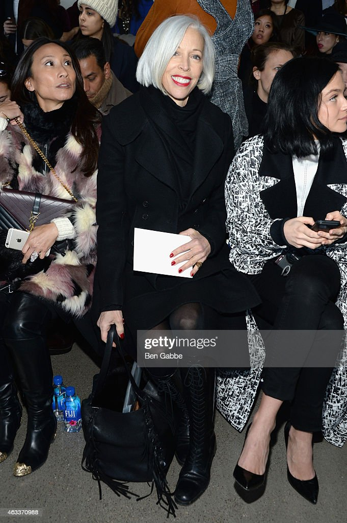 Senior Vice President, Fashion Office at Bergdorf Goodman, Linda Fargo attends the Jason Wu fashion show during Mercedes-Benz Fashion Week Fall 2015 at Spring Studios on February 13, 2015 in New York City.