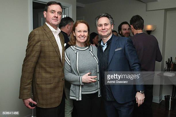 Senior Vice President Finance at Hudson's Bay Company Colin Dougherty Janis Leigh and CEO of DuJour Media Jason Binn attend an intimate evening of...
