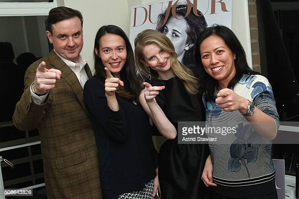 Senior Vice President Finance at Hudson's Bay Company Colin Dougherty Kelly Conley Kellyn Lindsay and Annette Fung attend an intimate evening of...