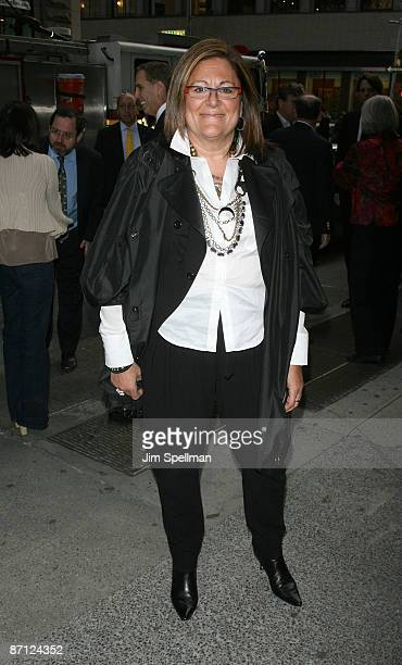 Senior Vice President IMG Fashion Fern Mallis attends a screening of Easy Virtue hosted by The Cinema Society and The Wall Street Journal with...
