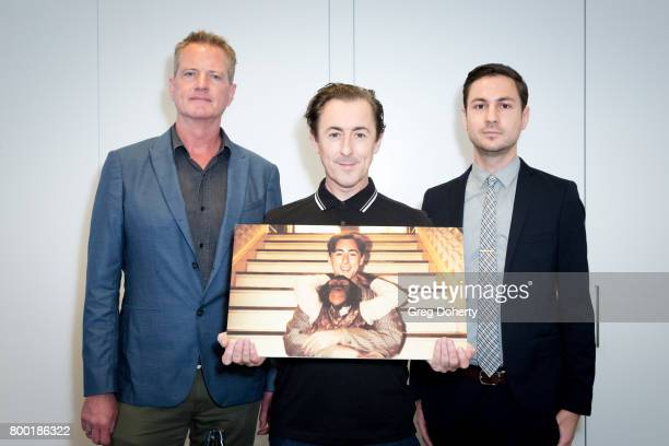PETA Senior Vice President of Campaigns Dan Mathews actor Alan Cumming and Legal Counsel Jared Goodman attend a news conference with PETA exposing...