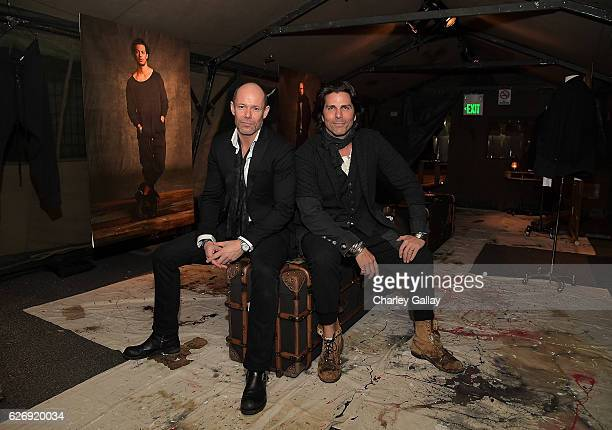 Senior Vice President of Design Banana Republic Michael Anderson and Greg Lauren attend the Greg Lauren For Banana Republic Event at Greg Lauren...