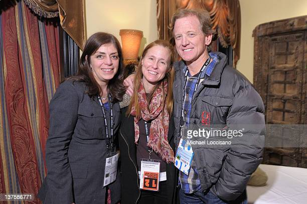 Senior Vice President of Documentary Programming HBO Nancy Abraham Kyle Redford and Jamie Redford attend the HBO Sundance Documentary Party at Wahso...