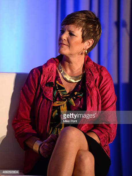 Senior Vice President of Enterprise Alliances at Equifax Lisa Nelson speaks onstage at DataDriven Creative and Visualization panel during AWXI on...