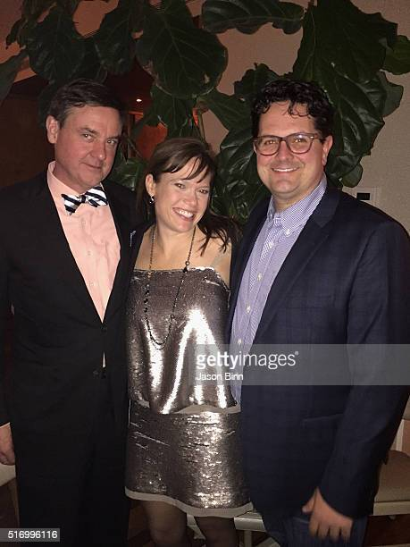 Senior Vice President of Finance at Hudson's Bay Company Colin Dougherty Hollie Graham Erik Caldwell circa February 2016 in New York City