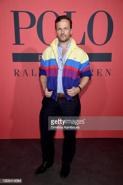Senior Vice President of Global Merchandising at Polo Ralph Lauren Frederic Dechnik attends the Polo Red Rush Launch Party with Ansel Elgort at...