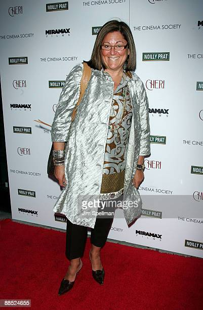 Senior Vice President of IMG Fashion Fern Mallis attends the Cinema Society Noilly Prat screening Of Cheri at Directors Guild of America Theater on...