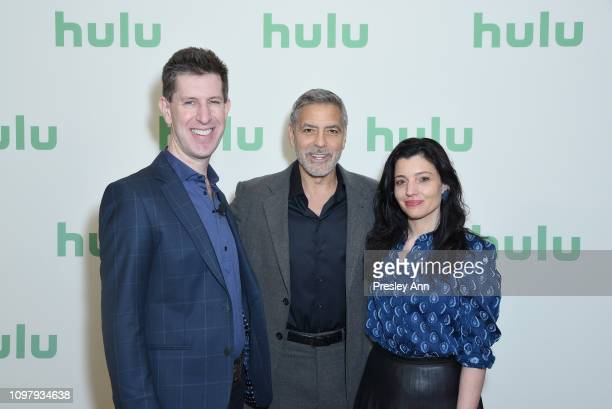 Senior Vice President of Originals Craig Erwich George Clooney and Head of Originals at Hulu Beatrice Springborn attend the Hulu Panel during the...