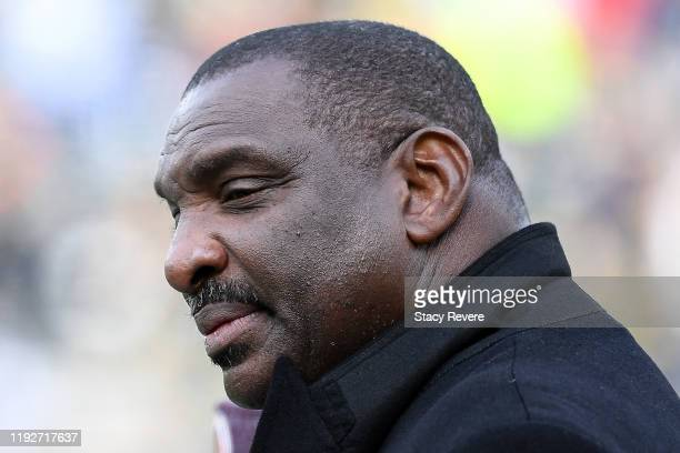 Senior Vice President of Player Personnel Doug Williams of the Washington Redskins looks on before the game against the Green Bay Packers at Lambeau...