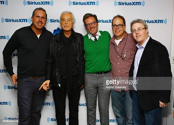 Senior Vice President of Promotions, Event Marketing and Talent Relations, Ross Zapin, guitarist Jimmy Page, Vice President Music Programming, Gregg...