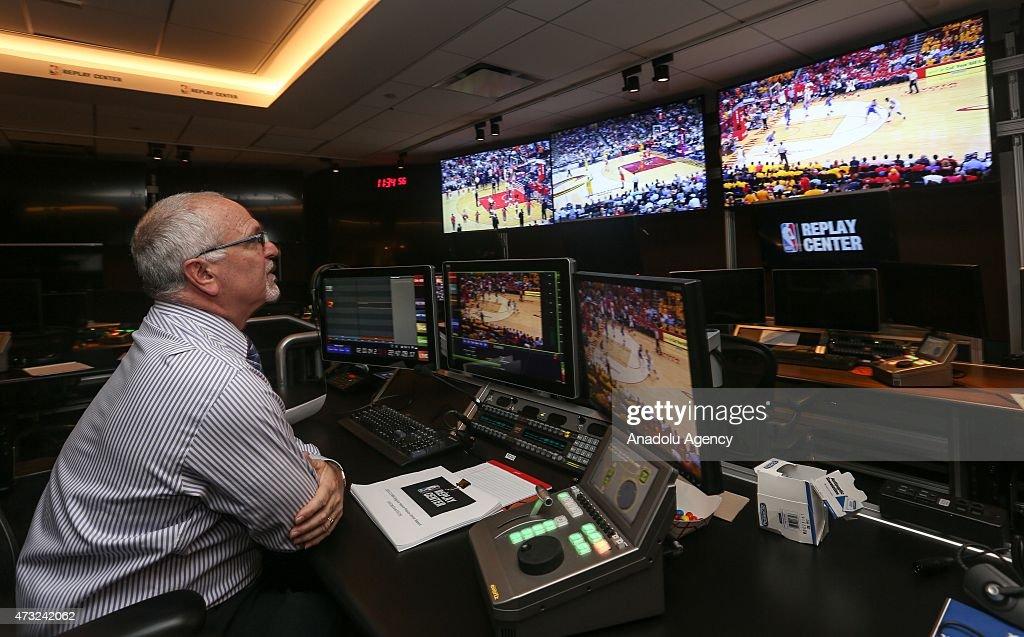 NBA Replay Center in Secaucus : News Photo