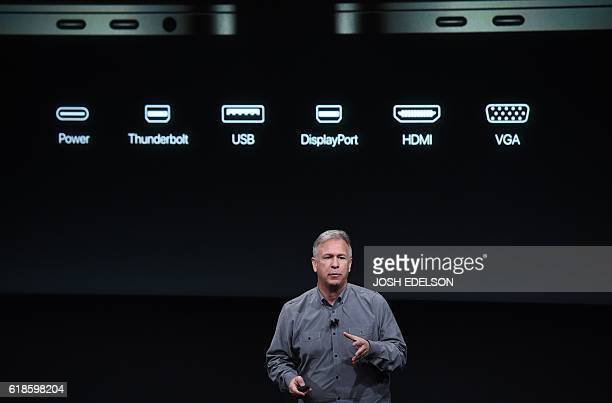 Senior Vice President of Worldwide Marketing Phil Schiller speaks during a product launch event at Apple headquarters in Cupertino California on...