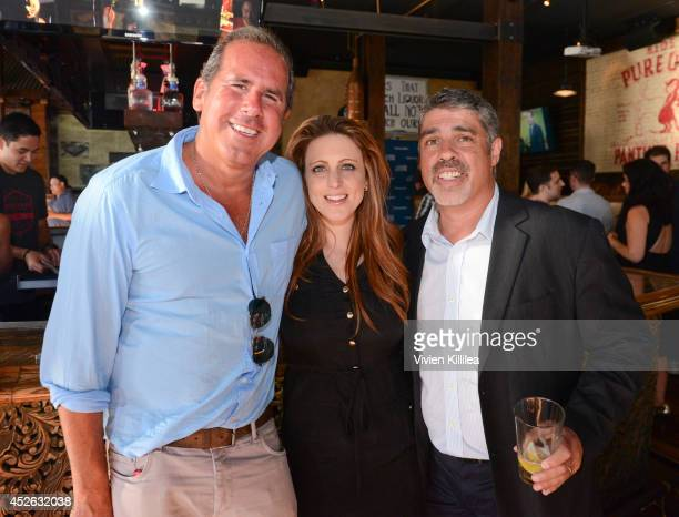 Senior VP at Sirius XM Ross Zapin chief operating officer at The Howard Stern Show Channels Marci Turk and radio personality Gary Dell'Abate attend...