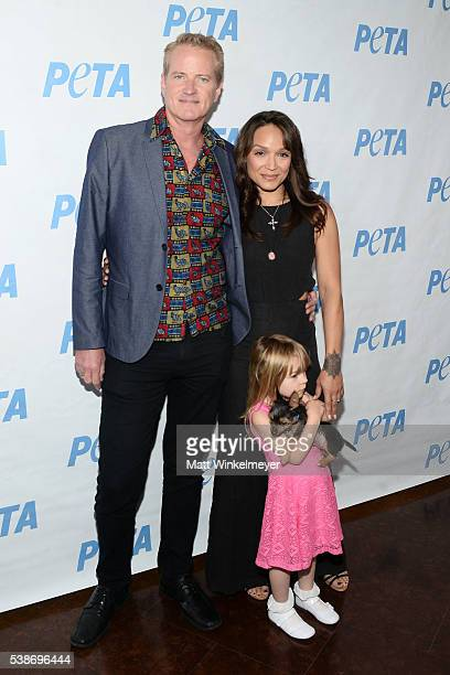 Senior VP Dan Matthews and Mayte Garcia attend the LA launch party for Prince's PETA Song at PETA on June 7 2016 in Los Angeles California