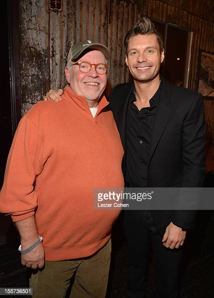 Senior VP of programming at Clear Channel, John Ivey and Ryan Seacrest attend City of Hope's Fifth Annual MEI Comedy Roast Honoring Clear Channel's...
