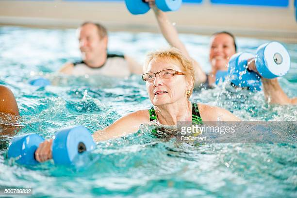 Senior Water Aerobics Class at the Gym